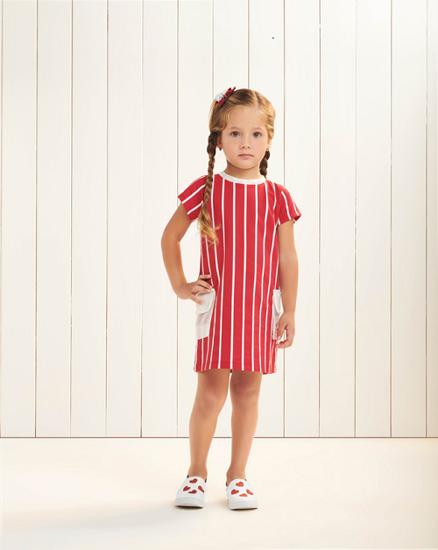 Imagem de Vestido Momi listras vermelho