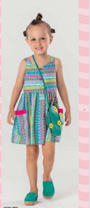 Imagem de Vestido Mon Sucré com Bolsa Cactos
