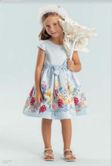 Imagem de Vestida Petit Cherie Listra e barra floral