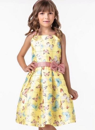Imagem de Vestido Petit Cherie Amarelo Borboletas