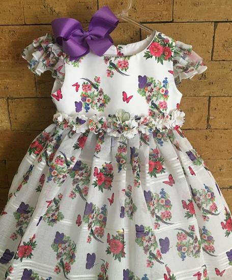 Imagem de Vestido da Mio Bebê branco com saia em Organza