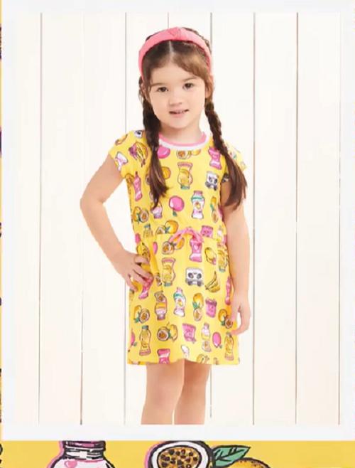 Imagem de Vestido Momi estampa Iogurte