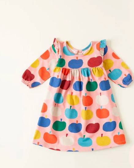Imagem de Vestido bebê malha maçã