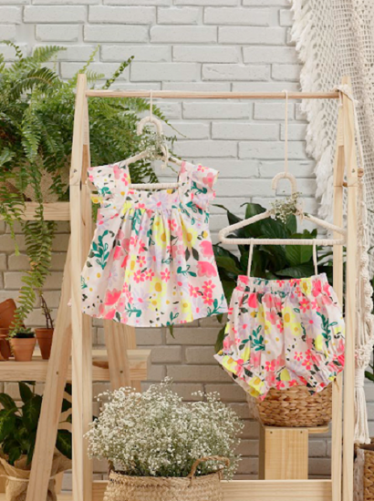 Imagem de Conjunto Bebe Verão Floral da Petit Cherie