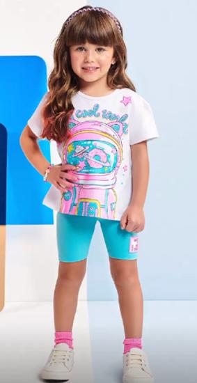 Imagem de Conjunto bermuda ciclista e blusa da Momi